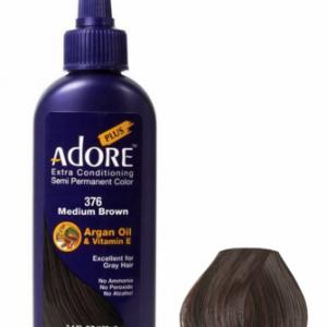 Adore Plus Semi Permanent Hair Color 376 Medium Brown 3.4 oz