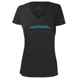 Alienware AWSWDS Space-Age Gaming Gear T-Shirt - Small - Ladies - Gray