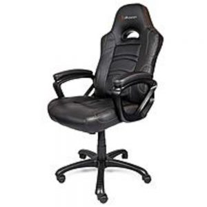 Arozzi Enzo Series ENZO-BK Gaming Racing Style Swivel Chair - Black