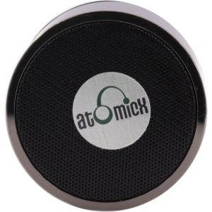 AtomicX SP-S10B Portable Bluetooth Speaker System - Black - Battery Rechargeable