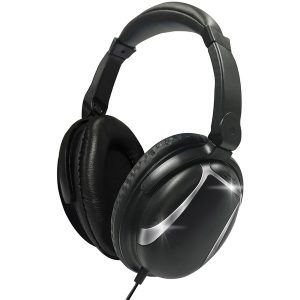 Maxell 199840 Bass 13 Heavy-Bass Over-Ear Headphones with Microphone (Black)