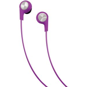 Maxell 199730 Bass 13 Heavy-Bass In-Ear Earbuds with Microphone (Purple)