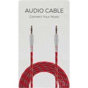BITS 5031300083566 3.5 FT Audio Cable - 3.5mm to 3.5mm - Red