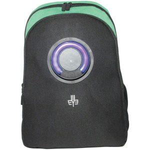 3Eye 3EYE-GREEN Backpack with Bluetooth Speaker (Green)