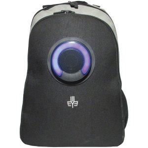 3Eye 3EYE-GRAY Backpack with Bluetooth Speaker (Gray)