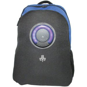 3Eye 3EYE-BLUE Backpack with Bluetooth Speaker (Blue)