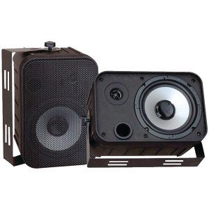 Pyle PDWR50B 6.5'' Indoor/Outdoor Waterproof Speakers (Black)