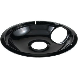 "Stanco Metal Products 414-8 Black Porcelain Replacement Drip Pan (8"")"