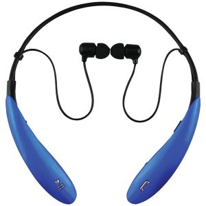 Supersonic IQ-127BT BLUE IQ-127 Bluetooth Headphones with Microphone (Blue)