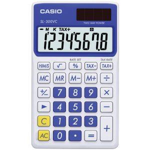CASIO SL300VCBESIH Solar Wallet Calculator with 8-Digit Display (Blue)