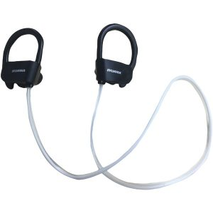 SYLVANIA SBT317-BLACK In-Ear Bluetooth Sport Headphones with Microphone & LED Light-up Headband