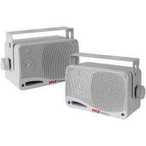 Pyle PDWR42WBT 3.5-Inch 200-Watt 3-Way Indoor/Outdoor Bluetooth Home Speaker System (White)