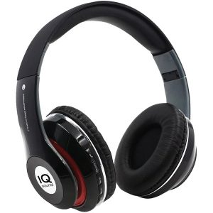 IQ Sound IQ-130BT- BLK Bluetooth Over-Ear Headphones with Microphone (Black)