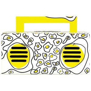 QFX BT-41-Egg-Yolk Bluetooth Streaming TWS Ready Speaker (Yellow)