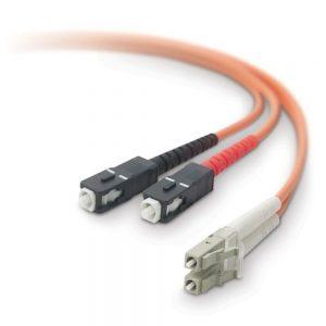 Belkin Duplex Fiber Optic Patch Cable - LC Male - SC Male - 16.4ft