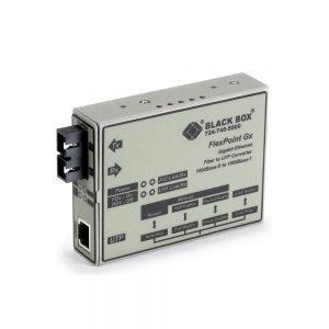Black Box FlexPoint Modular Media GigaBit Ethernet Single Mode 1310nm 10km SC Converter LMC1004A-R3