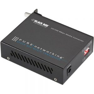 Black Box LHC202A Transceiver/Media Converter - 1 x Network (RJ-45) - 1 x SC Ports - DuplexSC Port - Single-mode - Fast Ethernet - 10/100Base-T