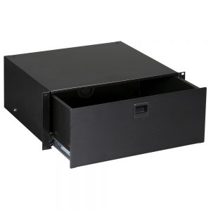 Black Box RMMT19 RackMount 4U Media Storage Drawer Black