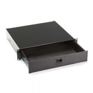 Black Box RackMount Media Storage Drawer 19 2U Black RMMT17