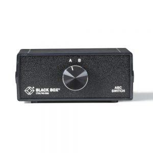 Black Box SWJ-100A 2-to-1 CAT5 Fast Ethernet Manual Desktop Switch