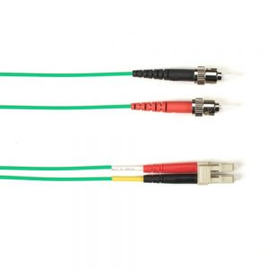 Blackbox FOCMRSM-015M-STLC-GN OS2 9-Micron Single-Mode Fiber Optic Patch Cable Green 49.2ft