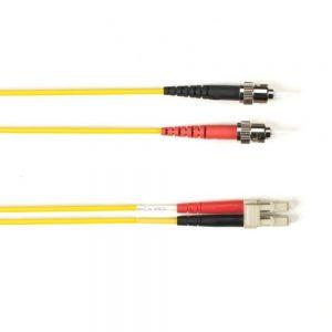 Blackbox FOCMRSM-015M-STLC-YL OS2 9-Micron Single-Mode Fiber Optic Patch Cable Yellow 49.2ft