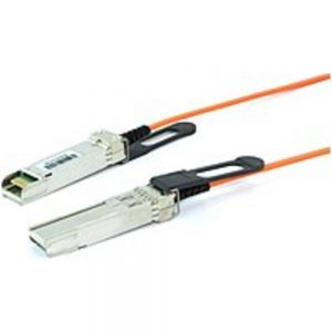 Brocade 10 m Active Optical Cable - Fiber Optic Network Cable - First End: 1 x SFP+ Network - Second End: 1 x SFP+ Network - 10 Gbit/s - Stacking Cable - 1 Pack