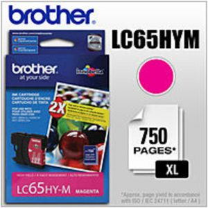 Brother LC65HYM High Yield Ink Cartridge for MFC-5890CN Printer - 750 Pages Yield - Magenta