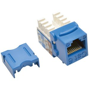 Tripp Lite N238-001-BL CAT-6/CAT-5E 110-Style Punch-down Keystone Jack (Blue)