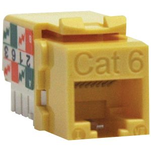 Tripp Lite N238-001-YW CAT-6/CAT-5E 110-Style Punch-down Keystone Jack (Yellow)