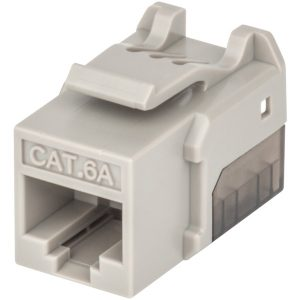 Intellinet Network Solutions 772341 FastPunch CAT-6A UTP Keystone Jack (Gray)
