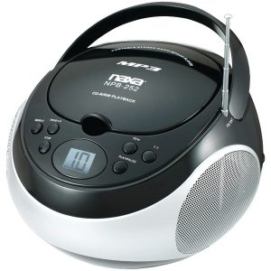 Naxa NPB252BK Portable CD/MP3 Players with AM/FM Stereo (Black)