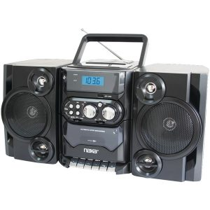 Naxa NPB428 Portable MP3/CD Player with AM/FM Radio & Detachable Speakers