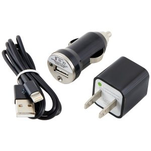 Ultralast CEL-CHG8B Charge & Sync Kit with Lightning to USB Cable (Black)