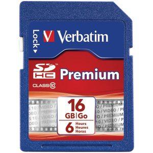 Verbatim 96808 Class 10 SDHC Card (16GB)