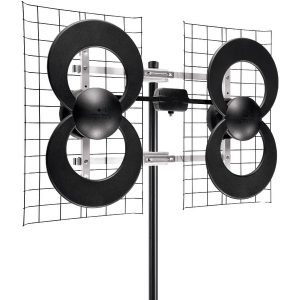 """Antennas Direct C4-CJM ClearStream 4 Quad-Loop UHF Outdoor Antenna with 20"""" Mount"""
