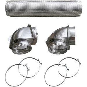 Builder's Best 110050 Semi-Rigid Dryer Vent Kit with Close Elbow