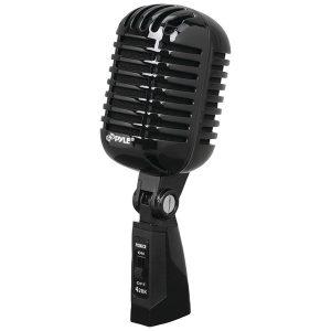 Pyle Pro PDMICR42BK Classic Retro Vintage-Style Dynamic Vocal Microphone (Black)