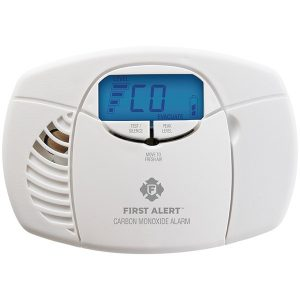 First Alert 1039727 Battery-Powered Carbon Monoxide Alarm with Backlit Digital Display