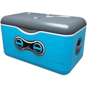 Kaleigo KAL-BLUE 47.5-Quart Cooler with Removable Bluetooth Speaker (Blue)