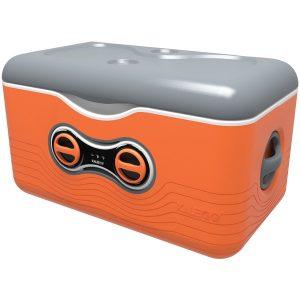 Kaleigo KAL-ORANGE 47.5-Quart Cooler with Removable Bluetooth Speaker (Orange)