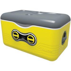 Kaleigo KAL-YELLOW 47.5-Quart Cooler with Removable Bluetooth Speaker (Yellow)