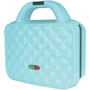 Brentwood Appliances TS-239BL Couture Purse Nonstick Dual Waffle Maker (Blue)