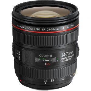Canon - 24 mm to 70 mm - f/4 - Zoom Lens for Canon EF/EF-S - 77 mm Attachment - 0.70x Magnification - 2.9x Optical Zoom - Optical IS - USM - 3.3Diameter