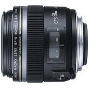 Canon EF-S 60mm f/2.8 Macro USM Lens - 12 Elements in 8 Groups - 25 Max Angle of View - Black