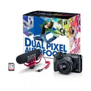 Canon EOS M6 1724C064 Mirrorless Digital Camera with Video Creator Kit - 24.2 MP - DIGIC 7 - 1080p - 3-Inch LCD - Black