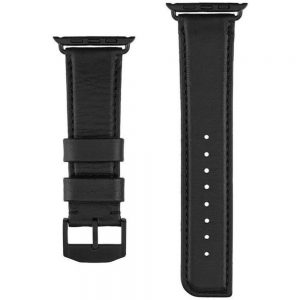 Case-Mate CM034431 Signature Leather Strap for 1.7-inch Apple Watch - Black