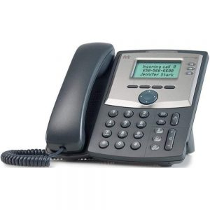 Cisco OOMACISCOSPA303 Small Business SPA 303 VoIP Multiline Corded Phone - Black