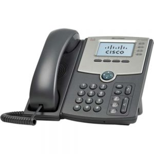 Cisco SPA514G IP Phone - 4 x Total Line - VoIP - Caller ID - Speakerphone - 2 x Network (RJ-45) - PoE Ports - Monochrome