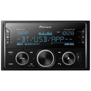 Pioneer MVH-S620BS Double-DIN In-Dash Digital Media Receiver with Bluetooth and SiriusXM Ready